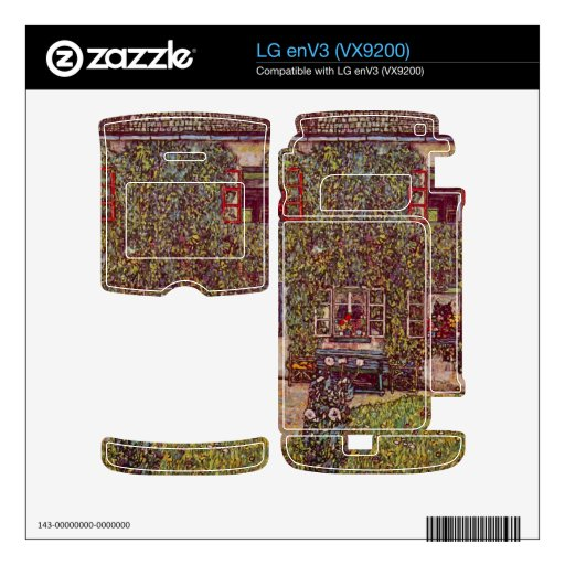 The House of Guard by Gustav Klimt Decals For LG enV3