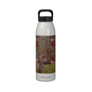 The House of Guard by Gustav Klimt Drinking Bottle