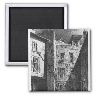 The House of Heloise and Abelard 2 Inch Square Magnet