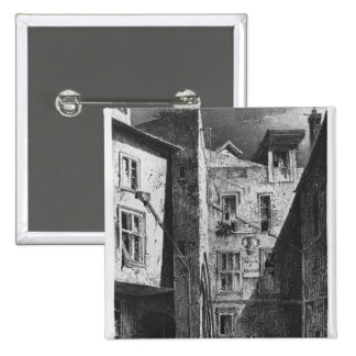 The House of Heloise and Abelard 2 Inch Square Button