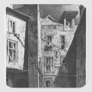 The House of Heloise and Abelard Square Sticker