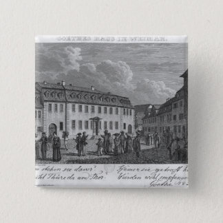 The house of Johan Wolfgang von Goethe  in Pinback Button