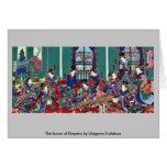 The house of Kinpeiro by Utagawa,Yoshitora Greeting Cards
