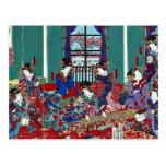 The house of Kinpeiro by Utagawa,Yoshitora Postcards