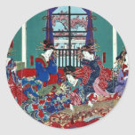 The house of Kinpeiro by Utagawa,Yoshitora Round Sticker