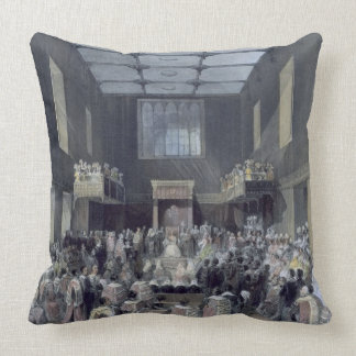 The House of Lords, Her Majesty opening the Sessio Throw Pillow