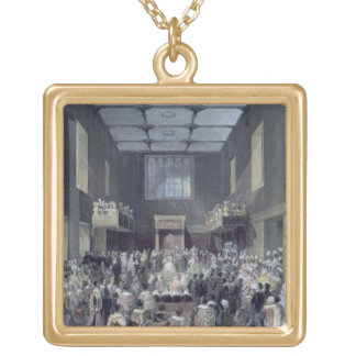 The House of Lords, Her Majesty opening the Sessio Square Pendant Necklace