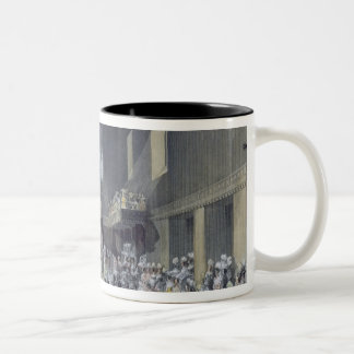 The House of Lords, Her Majesty opening the Sessio Two-Tone Coffee Mug