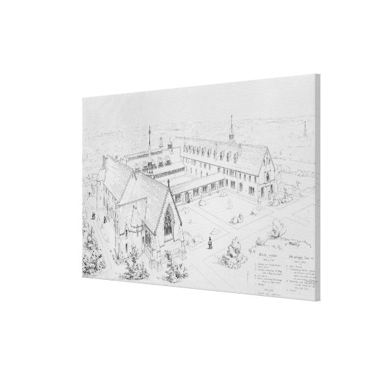 The House of Mercy, Clewer Canvas Print
