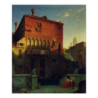 The House of Othello, the Moore in Venice, 1856 Poster