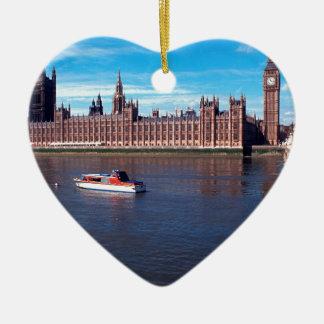 the House of Parliament , London , England Ceramic Ornament