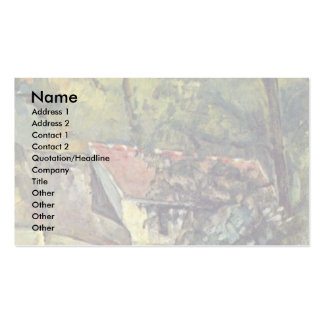 The House Of Père Lacroix By Paul Cézanne Business Cards