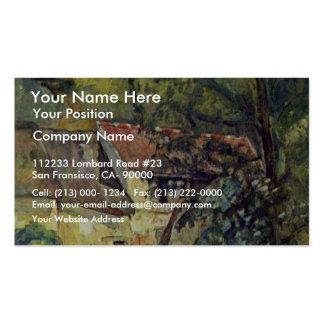 The House Of Père Lacroix By Paul Cézanne Business Card Templates
