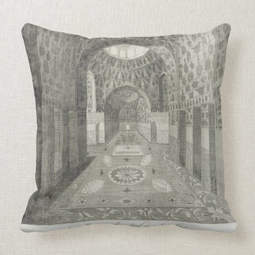 The House of the Jew at Isfahan, from 'Voyages du Throw Pillows