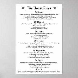 The House Rules v3white Poster