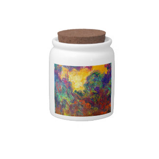 The House Seen from the Rose Garden Claude Monet Candy Jars