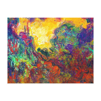 The House Seen from the Rose Garden Claude Monet Canvas Print