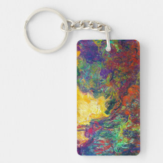 The House Seen from the Rose Garden Claude Monet Double-Sided Rectangular Acrylic Keychain