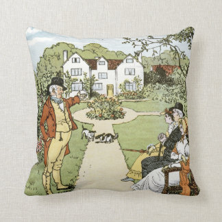 The House that Jack Built Throw Pillows
