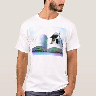 The house with an eye in open book T-Shirt