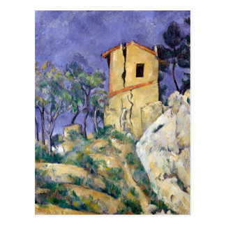 The House with the Cracked Walls - Paul Cézanne Post Card