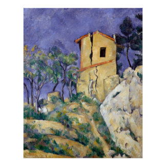 The House with the Cracked Walls - Paul Cézanne Poster