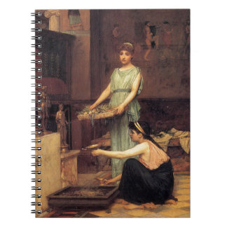 ThE HoUSEHoLD GoDs, by John William Waterhouse Spiral Notebook