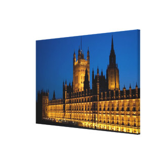 The Houses of Parliament at night in the city of Canvas Print