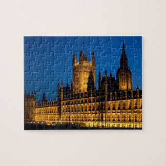 The Houses of Parliament at night in the city of Jigsaw Puzzle