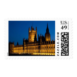 The Houses of Parliament at night in the city of Stamp