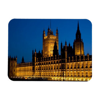 The Houses of Parliament at night in the city of Rectangular Magnets