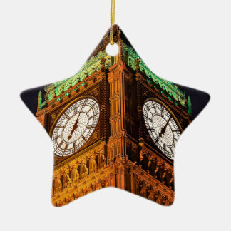 The Houses of Parliament clock tower, Westminster Ceramic Ornament