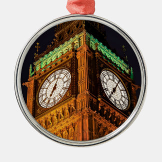 The Houses of Parliament clock tower, Westminster Metal Ornament