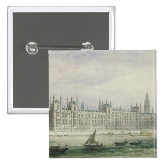 The Houses of Parliament (graphite, pen & ink & w/ Button