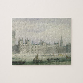 The Houses of Parliament (graphite, pen & ink & w/ Jigsaw Puzzle
