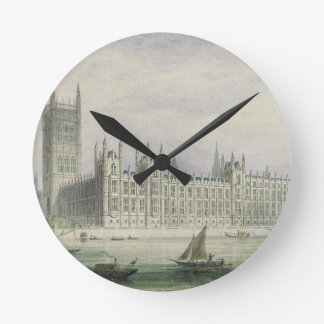 The Houses of Parliament (graphite, pen & ink & w/ Round Clock