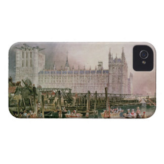 The Houses of Parliament in Course of Erection iPhone 4 Cases