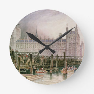 The Houses of Parliament in Course of Erection Round Clock
