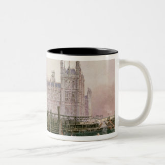 The Houses of Parliament in Course of Erection Two-Tone Coffee Mug