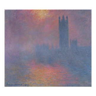 The Houses of Parliament, London Poster