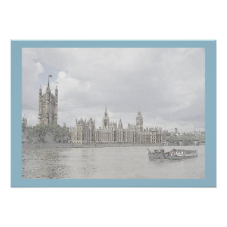 The Houses of Parliament sketch Poster