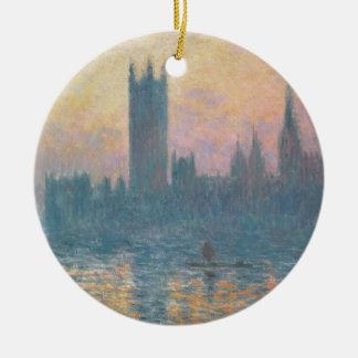 The Houses of Parliament, Sunset, 1903 Ceramic Ornament