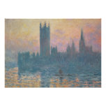 The Houses of Parliament, Sunset, 1903 Poster