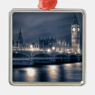 The Houses of Parliament,  Westminster London Metal Ornament