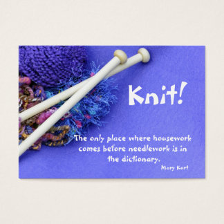 The housework before needlework??? business card