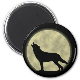 The Howling Wolf in the Night Magnet
