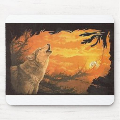 The Howling Wolf Sunset Mousepad
