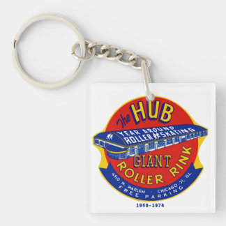 The Hub Roller Rink Chicago / Norridge Illinois Acrylic Keychains