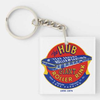 The Hub Roller Rink Chicago / Norridge Illinois Keychain