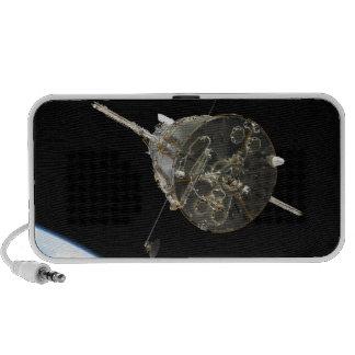 The Hubble Space Telescope in orbit above Earth Portable Speaker